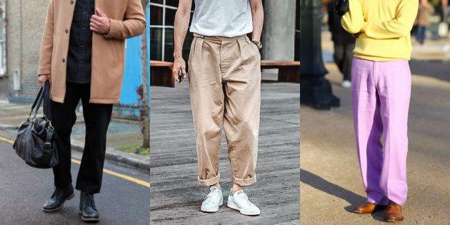 Самые модные мужские брюки: Широкие брюки