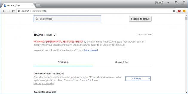Генератор паролей в Chrome: экспериментальные настройки
