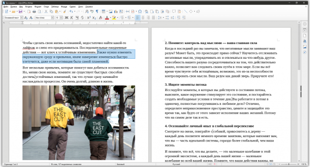 Хорошие текстовые редакторы: LibreOffice Writer