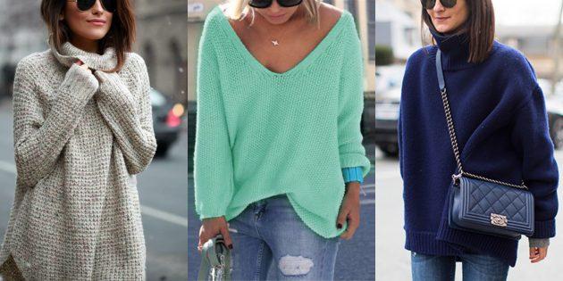 Летняя распродажа одежды и обуви для женщин: Объёмный свитер