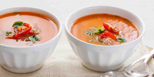 Блюда из овощей: Томатный суп-пюре с фасолью