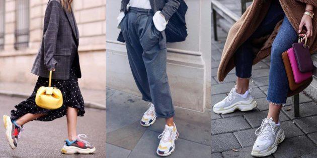 Летняя распродажа одежды и обуви для женщин: «Уродливые» кроссовки
