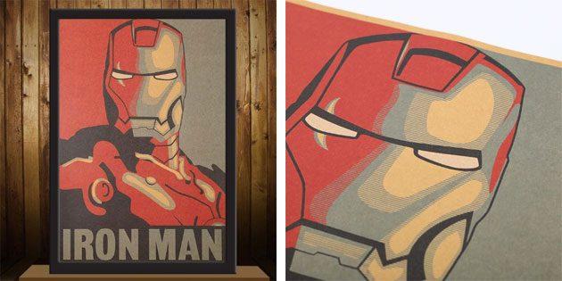 Плакат с Железным Человеком