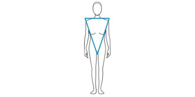 Выбор одежды: Перевёрнутый треугольник