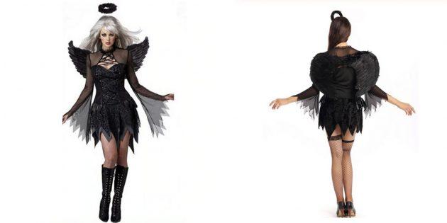 Падший ангел, костюм на Хеллоуин с AliExpress