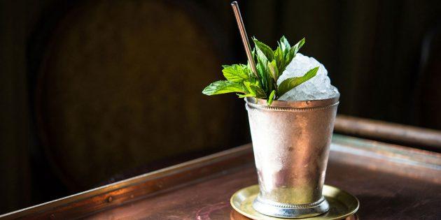 алкогольные коктейли: Мятный джулеп
