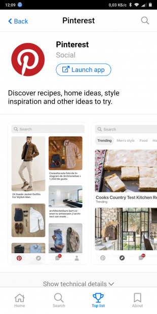 Appscope: Pinterest