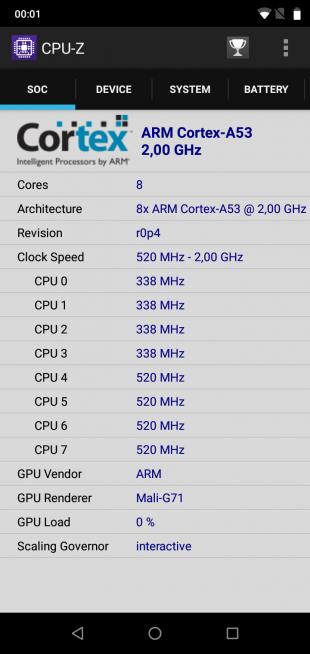 UMIDIGIOnePro: CPU-Z