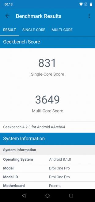 UMIDIGIOnePro: GeekBench