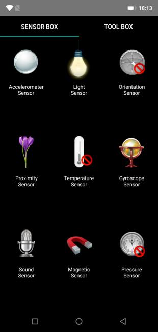 UlefoneArmor5: SensorBox