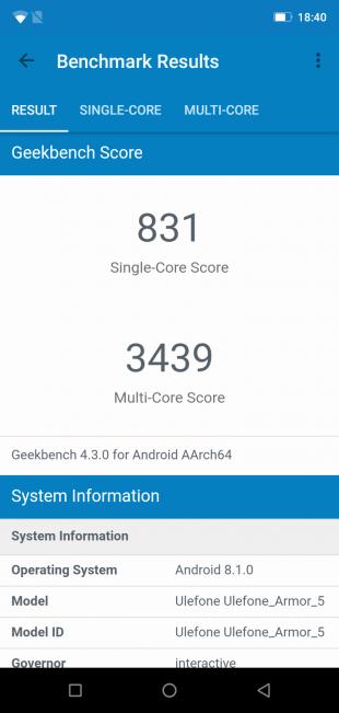 UlefoneArmor5: GeekBench