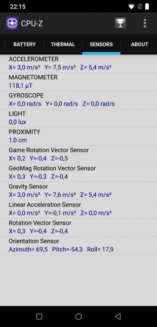 UMIDIGI Z2: CPU-Z