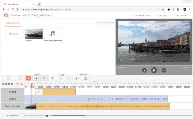 программы для редактирования видео: Hippo Video