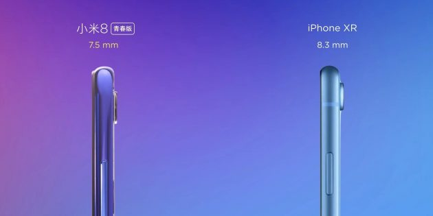 Xiaomi Mi 8 Lite: толщина