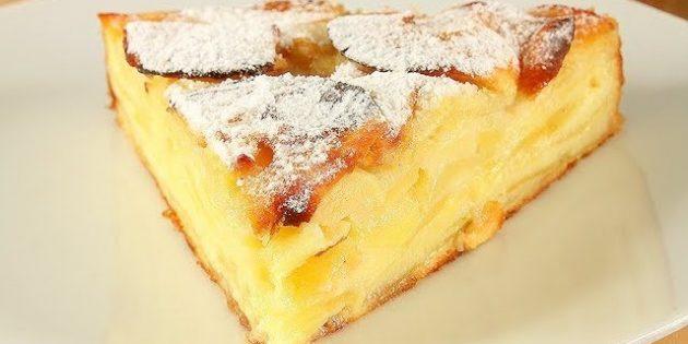 Нежнейший цитрусовый пирог с яблоками