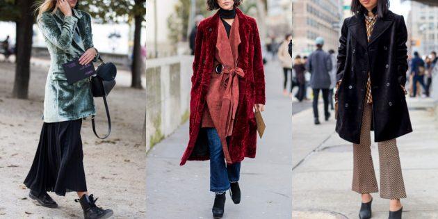 Модные бархатные куртки и пальто 2018–2019