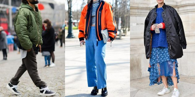 Модные куртки 2018–2019: Бомберы