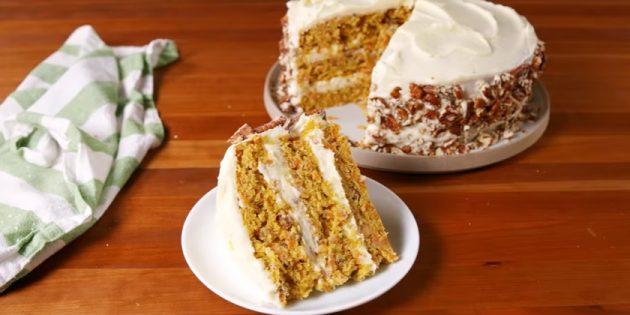 Морковный торт со сливочным кремом от Марты Стюарт