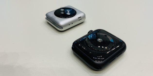 Apple Watch Series 4: Сравнение задних панелей