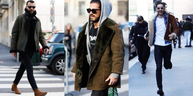 Мужская мода 2018–2019: Дублёнка