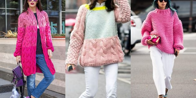 Модные кардиганы 2018-2019: яркий дутый свитер или кардиган