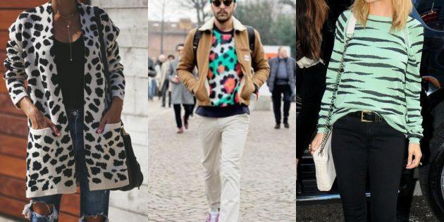 Модные свитера и кардиганы 2018-2019: анималистичные принты