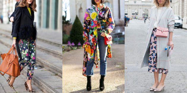 Мода 2018/2019: Цветы