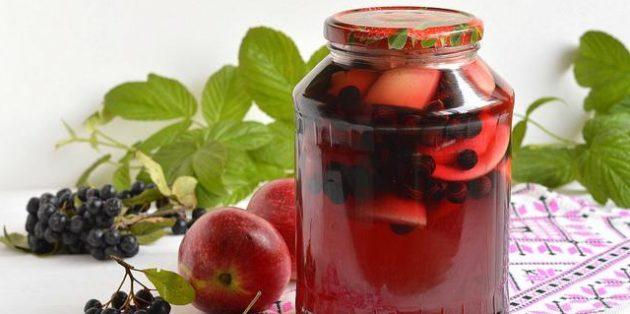 Черноплодная рябина рецепты: Компот из черноплодной рябины и яблок на зиму