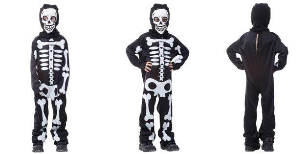 Костюм скелета на Хеллоуин