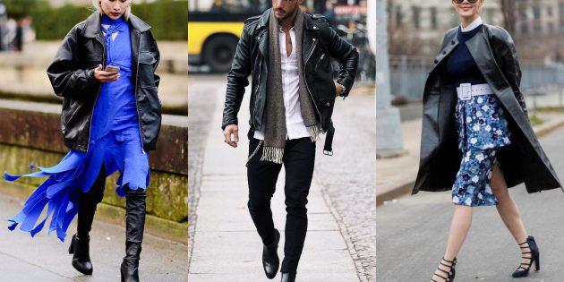 Модные куртки и пальто 2018–2019: Кожанки