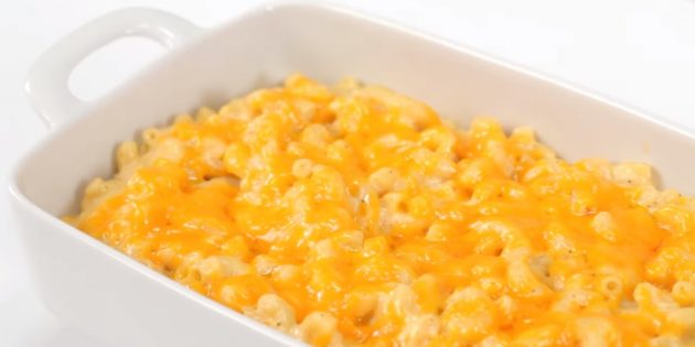 Макароны, запечённые в сливочно-сырном соусе