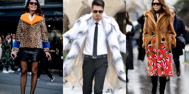 Модные пальто и куртки с широким воротником из искусственного меха