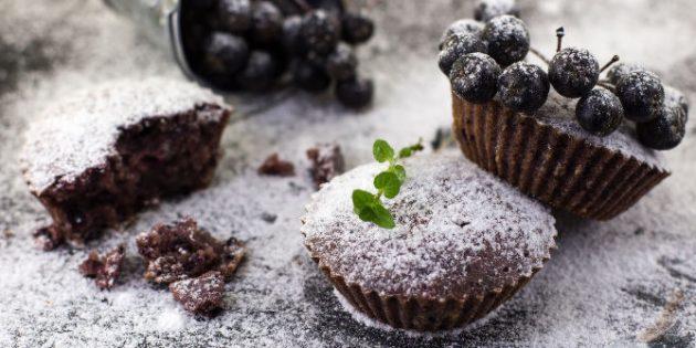 Черноплодная рябина рецепты: Кексы с черноплодной рябиной