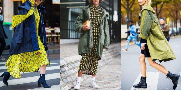 Мода 2018/2019: Образы с курткой-паркой