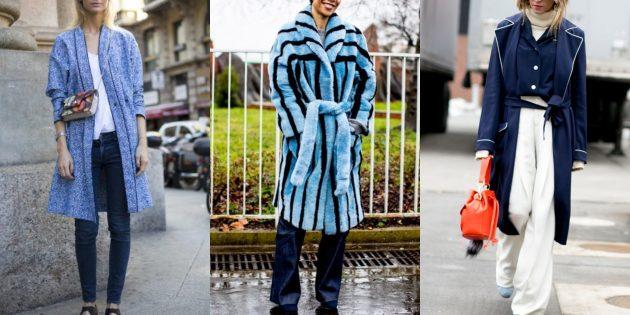 Модные пальто 2018–2019: Пижамный стиль