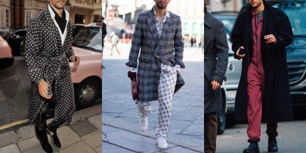 Мужская мода 2018–2019: Пижамный стиль