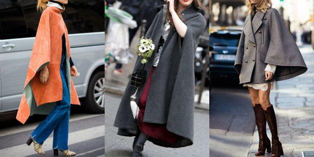 Мода 2018/2019: Образы с плащом-пончо