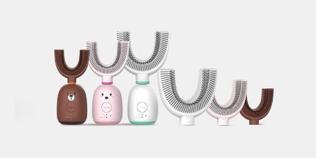 электрическая зубная щётка: Три насадки