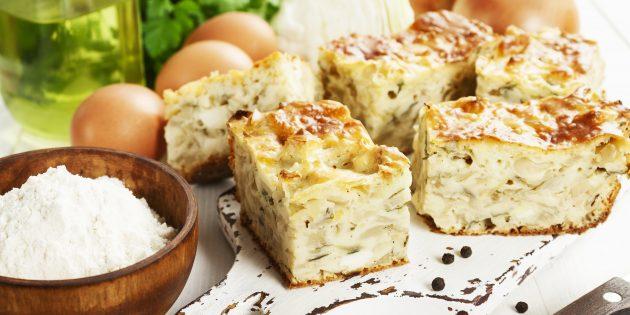 Заливной пирог с капустой: рецепты