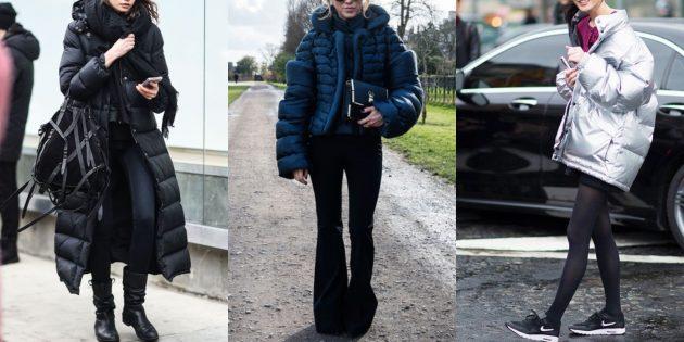 Мода 2018/2019: Образы с объёмными стёгаными куртками