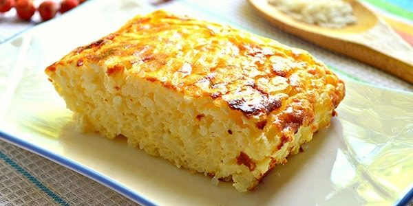 Рецепт творожной запеканки: Творожно-рисовая запеканка