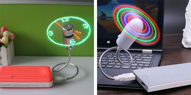 USB-вентилятор с часами