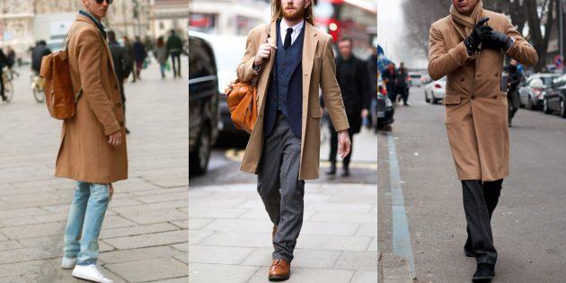 Мужская мода 2018–2019: Образы с верблюжьим пальто