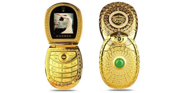 Золотой телефон-раскладушка