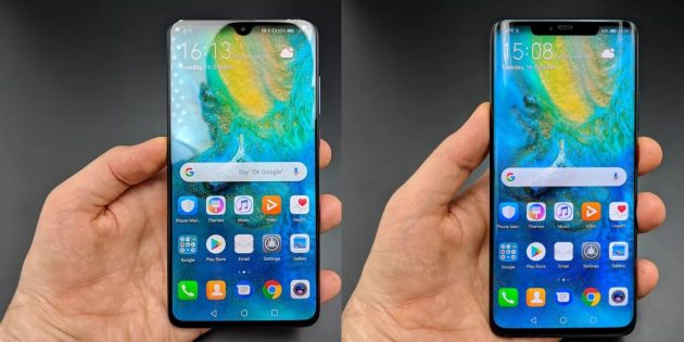 Huawei Mate 20 и Mate 20 Pro: экраны