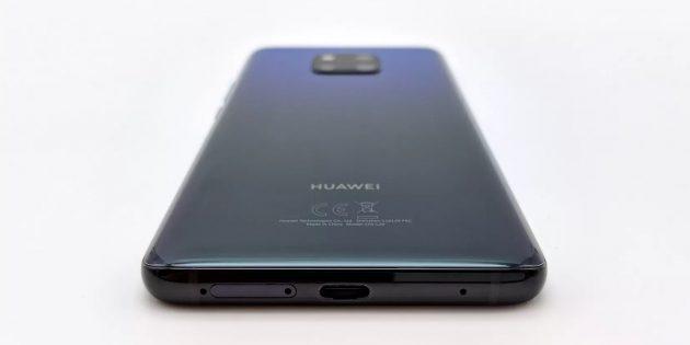 Huawei Mate 20 Pro: разъем USB