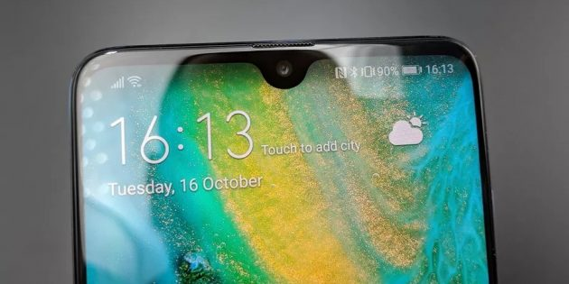 Huawei Mate 20: вырез экрана