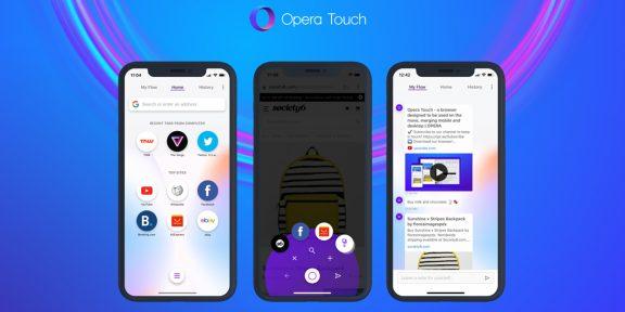Браузер Opera Touch, которым удобно пользоваться одной рукой, вышел на iPhone