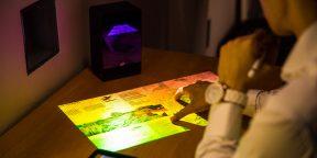 Штука дня: проектор, который превращает любую ровную поверхность в сенсорный экран