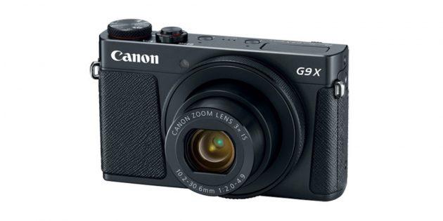 Лучшие фотоаппараты: Canon PowerShot G9 X Mark II